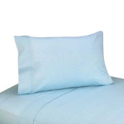 Sweet Jojo Designs Mod Dots Blue and Chocolate Sheet Set