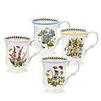 Portmeirion Botanic Garden Terrace Bell Shape Mugs (Set of 4)