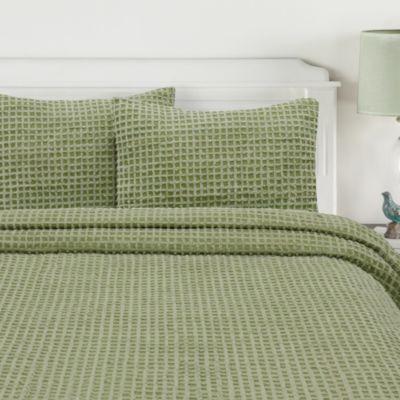 Honeycomb Standard Pillow Sham in Sage