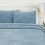 Honeycomb Standard Pillow Sham in Blue