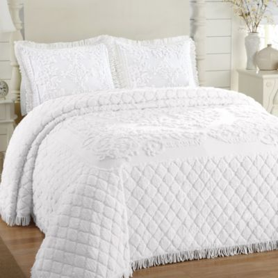 Josephine King Bedspread in White