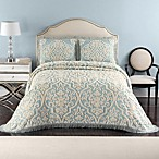 Layla Standard Pillow Sham in Blue/Linen