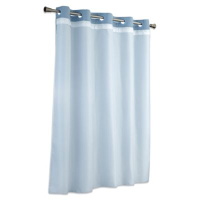 Hookless® Stall It's a Snap™ Stall Fabric Shower Curtain Liner in White