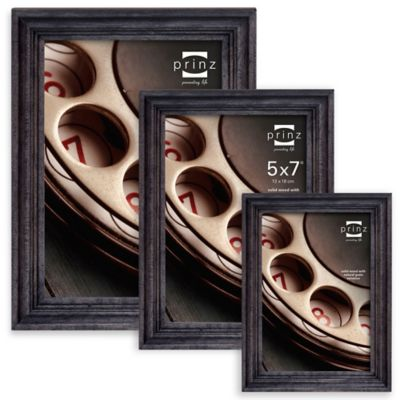 Prinz Madison 4-Inch x 6-Inch Wood Picture Frame in Black Wash