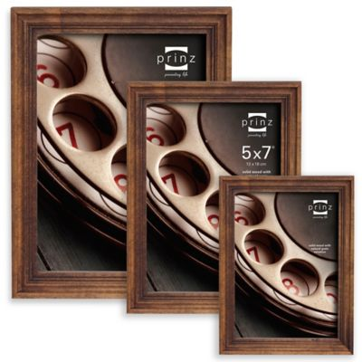 Prinz Madison 4-Inch x 6-Inch Wood Picture Frame in Walnut