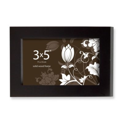Prinz Soho 5-Inch x 3-Inch Wood Frame in Black