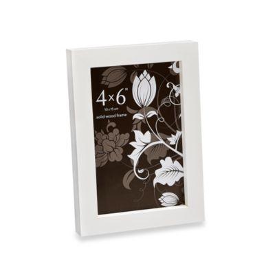 Prinz Soho 4-Inch x 6-Inch Wood Frame in White