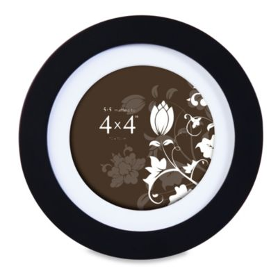 Prinz Soho 4-Inch x 4-Inch Round Wood Frame in Black