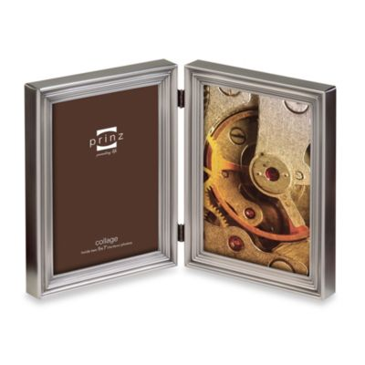Prinz Madison 2-Opening 5-Inch x 7-Inch Metal Picture Frame in Pewter