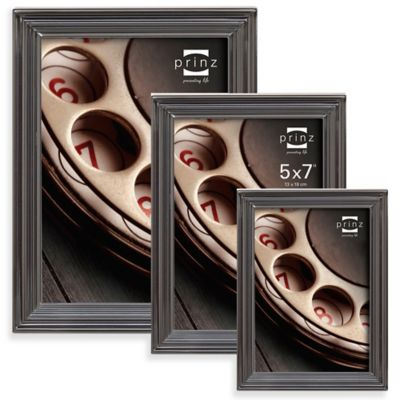 Prinz Madison 5-Inch x 7-Inch Metal Picture Frame in Gun Metal