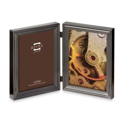 Prinz Madison 2-Opening 5-Inch x 7-Inch Metal Picture Frame in Gun Metal
