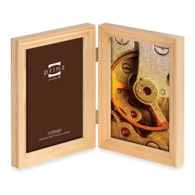 Prinz Madison 2-Opening 5-Inch x 7-Inch Wood Picture Frame in Natural