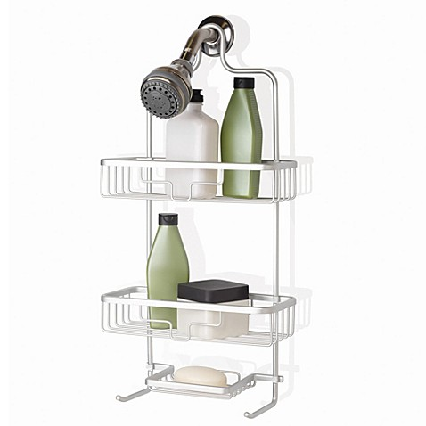 org neverrust shower caddy bed bath amp beyond 33 quot hancock bamboo tub caddy bathroom