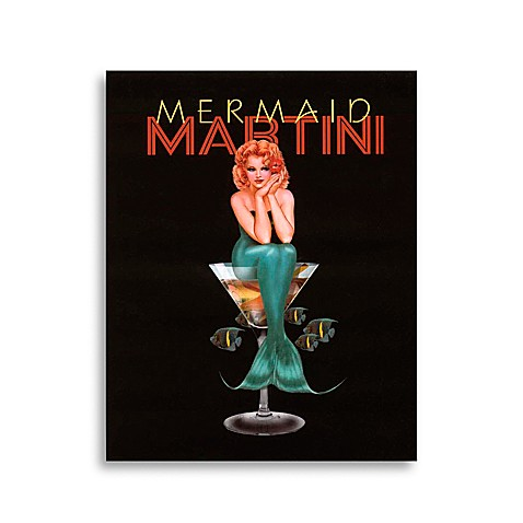 Martini Girls in Mermaid Wall Art