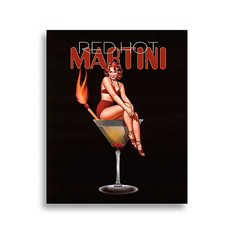 Martini Girls in Red Hot Wall Art