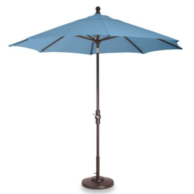 Brown Jordan 9-Foot Octagon Patio Umbrella with Walnut Colored Pole