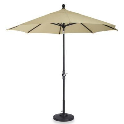 Brown Jordan 9-Foot Octagon Patio Umbrella with Graphite Colored Pole