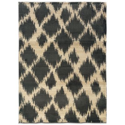 Oriental Weavers™ Marrakesh 2-Foot 7-Inch Uneven Diamond Runner in Grey