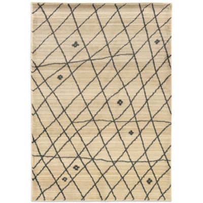 Oriental Weavers™ Marrakesh Contemporary Grid 2-Foot 7-Inch x 10-Inch Runner in Ivory
