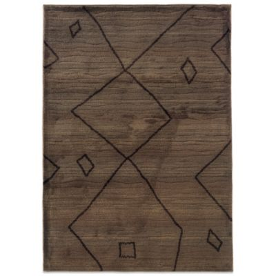 Oriental Weavers™ Marrakesh Global Brown 7-Foot 10-Inch x 11-Foot Rug
