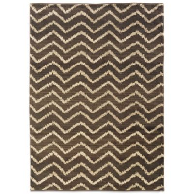 Oriental Weavers™ Marrakesh Zig Zag 2-Foot 7-Inch x 10-Inch Runner in Brown