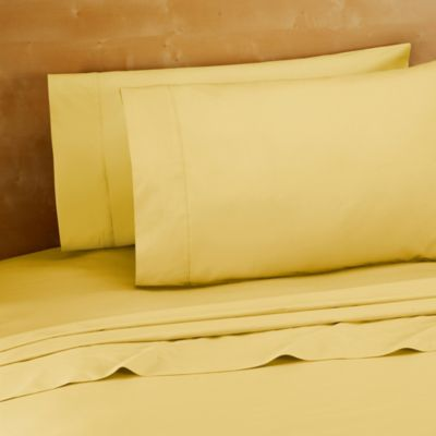 220-Thread-Count 100% Cotton Twin Sheet Set in Yellow