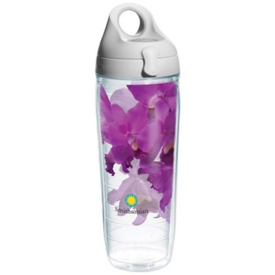 Tervis® 24-Ounce Smithsonian Purple Orchid Wrap Water Bottle with Lid