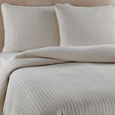 Traditions Linens Clare Coverlet in Natural Linen