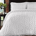 Arianna Bedspread and Sham Set in White