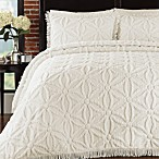 Arianna Bedspread and Sham Set in Ivory