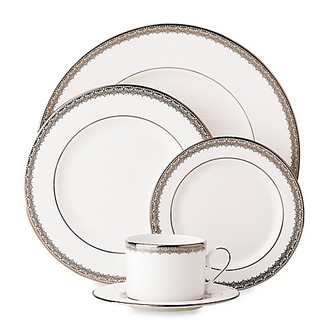 Lenox® Lace Couture 5-Piece Place Setting in White/Silver