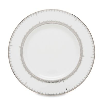 Lenox® Lace Couture Accent Plate in White/Platinum