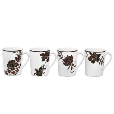 Mikasa® Cocoa Blossom 15-Ounce Oversized Mugs (Set of 4)
