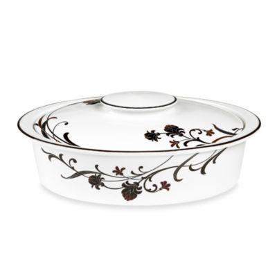 Mikasa® Cocoa Blossom 4.6-Quart Oval Casserole Dish