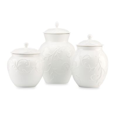 Lenox® Opal Innocence™ Carved 3-Piece Canister Set