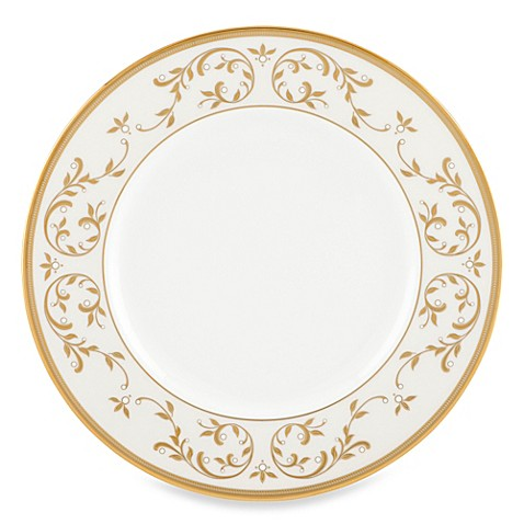 Lenox® Opal Innocence™ Gold 12-Inch Accent Plate in White