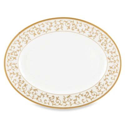 Lenox® Opal Innocence™ Gold 15-Inch Oval Platter in White