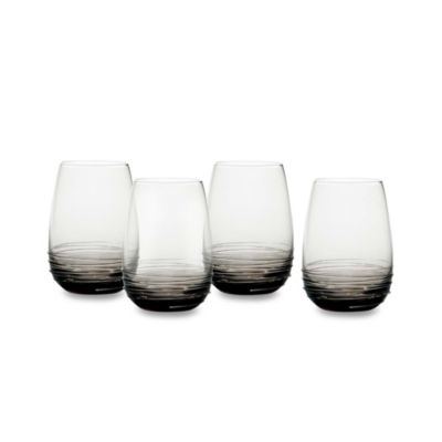Mikasa® Swirl 16 1/2-Ounce Wine Glass in Smoke (Set of 4)