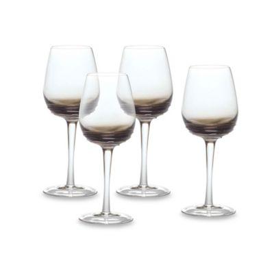 Mikasa® Swirl White Wine Glasses in Smoke (Set of 4)