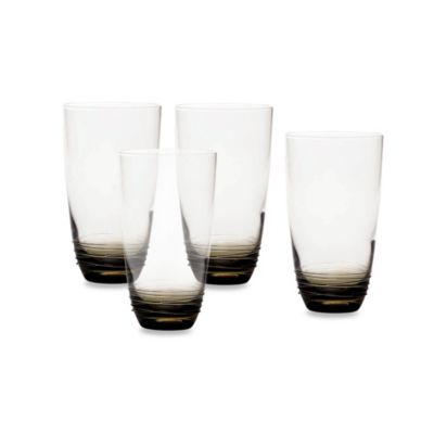 Mikasa® Swirl 20-Ounce High Ball Glasses in Smoke (Set of 4)