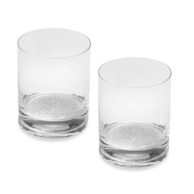 Oleg Cassini Crystal Diamond Double Old Fashioned Glass