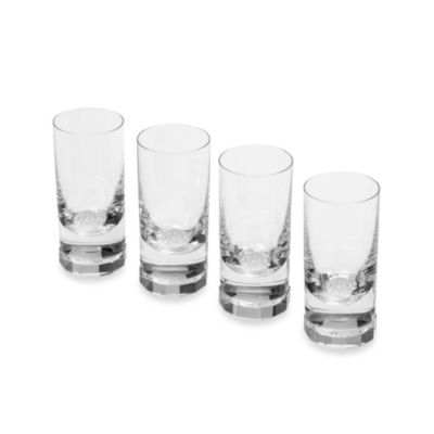 Oleg Cassini Crystal Diamond Shot Glass (Set of 4)