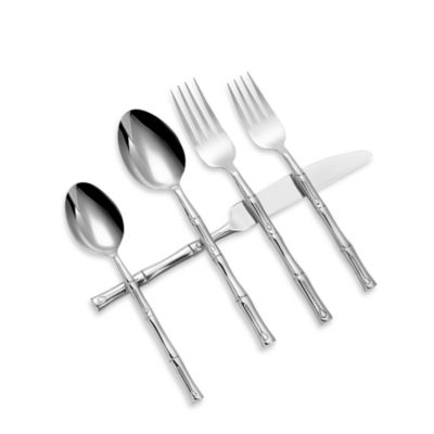 Hampton Forge Bamboo Mirror 20-Piece Flatware Set