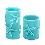 Aqua Starfish Pillar LED Candle
