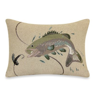 Jumping Bass Fish 18-Inch Tapestry Pillow