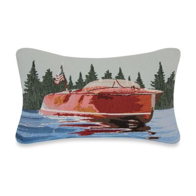 Motorboat Tapestry Throw Pillow