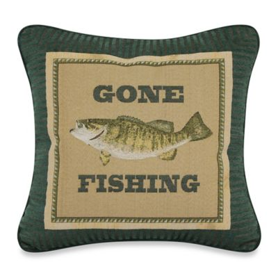 Gone Fishing Tapestry Throw Pillow