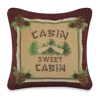 Cabin Sweet Cabin Throw Pillow Throw Pillows