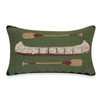 Canoe Tapestry Throw Pillow