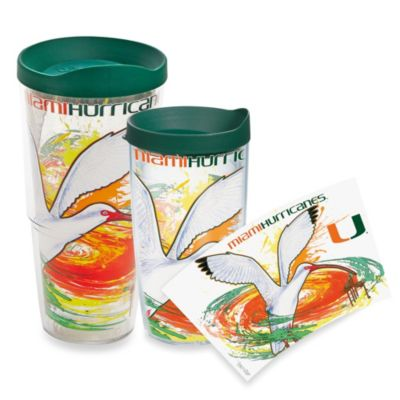 Tervis® Guy Harvey Wrap Miami Hurricanes 24-Ounce Tumbler with Green Lid
